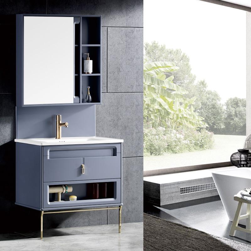 厂家现代航空级PVC浴室柜/洗手盆/卫浴柜/洗漱台19D系列